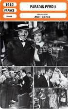 FICHE CINEMA : PARADIS PERDU - Gravey,Popesco,Gance 1940 Four Flights to Love