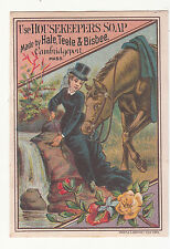 Housekeepers Soap Hale Teele & Bisbee Cambridgeport MA Horse  Vict Card c1880s