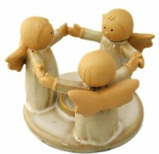 GIOIOSO Circle of Angels CERAMICA TEALIGHT CANDLE HOLDER