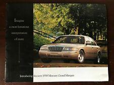 Vintage 1998 Mercury Grand Marquis 10-page Color Sales Brochure