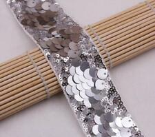 Negro metálico y plata con flecos de Encaje de corte de 18 cm de ancho 1 yarda
