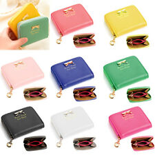 Small Clutch Bowknot Wallets Purses Women PU Leather Card Holder Bag Pocket