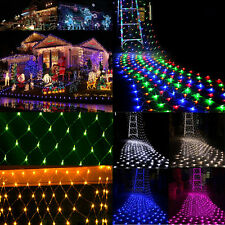 3x2M 6x4M LED String Fairy Lights Net Mesh Xmas Wedding Party Curtain Outdoor