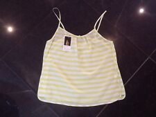 NWT Juicy Couture New & Genuine Ladies Size Small Green Striped Silk Camisole