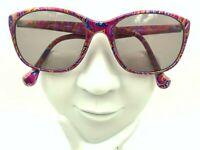 Vintage Chameleon 4814 Multi-Color Pink Oval Sunglasses Japan FRAMES ONLY