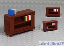 LEGO - Bookshelf Bookcase Brown Minifigure Furniture Cabinet Sideboard City Town