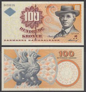 (B37) Denmark 100 Kroner 1999 (AU-UNC) CRISP Banknote P-56a