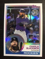 Charlie Blackmon 2018 Topps Silver Pack Retro Refractor #55 Colorado Rockies