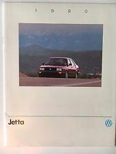 Original 1990 VW Volkswagen Jetta Sales Brochure Catalog