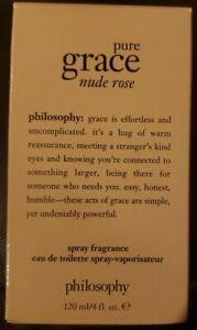 PHILOSOPHY Pure Grace Nude Rose 4 fl.oz/120 mL Eau De Toilette Spray NEW