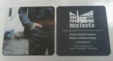 Hebtroco Hebden Bridge Bespoke Trouser Beer Mat Coaster x2 RARE new