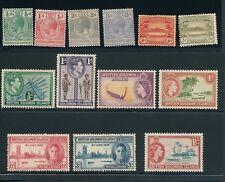 SOLOMON ISLANDS #12, #13, #28, #29, #46, #47 + 7 MORE; ALL MH; CV $30