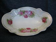 "Antique Koenigliche Porzellan-Manufaktur Porcelain Hand Painted Rose 6"" Dish EUC"