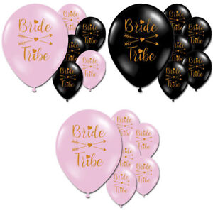 Bride Tribe Multi Black Pink Gold Hen Night Do Party Printed Balloons Decoration