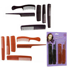 12 Pack Hair Comb Styling Grooming Cutting Black Brown Salon Quality Barber Set