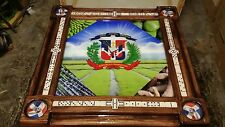 Dominican Insignia with Produce Pride Domino Table by Domino Tables by Art
