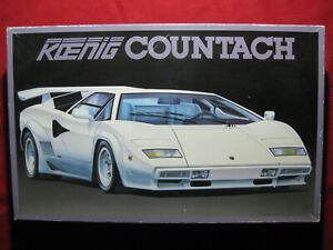 BIG 1988 Koenig Lamborghini Countach 1:16 Scale Fujimi Model Kit Vintage Rare