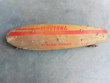 1970s Mustang Roller Derby No. 15 Wood Deck Clay Wheels Skateboard Original Look