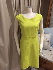 NWT Ann Taylor Lime Green Textured Sheath Dress 8 138$