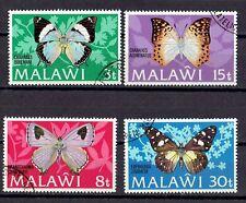 Malawi 1973 BUTTERFLIES   Full set of 4 Sc# 199-202 Fine Used OG Beautiful !!!