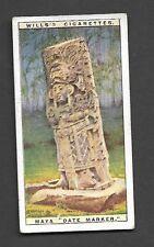 Wills - Wonders of the Past (1926). Card # 13 Maya Date Marker