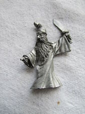 """Pewter Figurine Wizard With Sword 2 3/4"""" Tall x 2 3/8"""" Wide"""