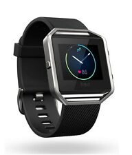 Fitbit Blaze Smart Fitness Watch - Black Band, Stainless Steel Frame. Small.
