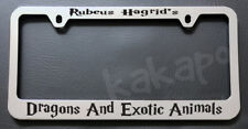 RUBEUS HAGRID'S DRAGONS AND.. HARRY POTTER Chrome License Plate Frame