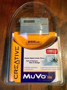 DIGITAL PLAYER CREATIVE MuVo Slim 256 Audio Lt Blue Mp3 New In Unopened Factory
