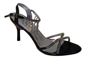 Ladies Glamorous Sexy Evening Diamante Sandals Strappy  Stiletto Heel Party