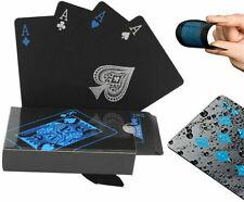 Waterproof PVC Poker Black Plastic Magic Table Board Game Playing Cards Creative
