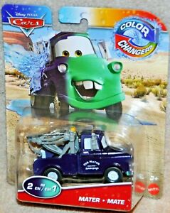 Disney Pixar Cars Color Changers MATER 2 IN 1 Race Car Colour Change