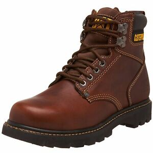 Caterpillar Mens second shift Leather Soft toe Lace Up Safety, Tan, Size 10.5