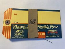 Lot of 5: Planet Jr Farm & Garden Heavy Duty Railroad Freight Shipping Labels