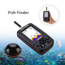 "2.8"" LCD Screen Fish Finder +Wireless Sonar Sensor Depth Alarm for River Fishing"