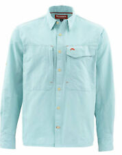Simms Guide Long Sleeve Shirt ~ Light Teal ~ Size Small CLOSEOUT