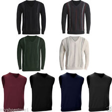 Cotton V Neck Striped Regular Jumpers & Cardigans for Men