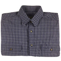 RM Williams Mens Vintage Long Sleeve Blue Check Button Shirt Made in Aus Size L