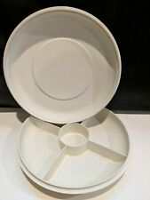 Vintage Tupperware Divided Vegetable Snack Relish Dish Tray1708 Lid 1709