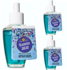 Bath & Body Works BLUEBERRY SUGAR Wallflower Fragrance Refill Bulbs x 3 Lot