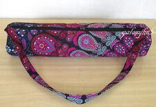 Indian Mandala Design Yoga Mat Carrier Pink Multi Color Bag With Shoulder Strap