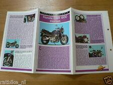 FM72- HONDA CBR600 HORNET MINI POSTER AND INFO MOTORCYCLE,MOTORRAD,MOTORFIETS