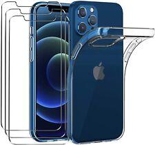 COQUE IPHONE 13/12 pro max mini 11 XR XS 8 7 6 SILICONE +2X VITRE VERRE TREMPE
