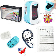 LED Finger Pulse Oximeter,Blood Oxygen Monitor,Sky blue,SPO2,PR Monitor,FDA,USA