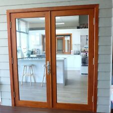 FRENCH DOORS,SOLID CEDAR TIMBER,1570W x 2100H, STAINED & OILED, HUNG, PRE ORDER