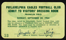 Philadelphia Eagles _RARE_ 1964 Press Pass/Ticket v San Francisco 49ers! vtg NFL