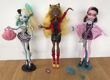 Monster High Dolls Lagoona Blue, Clawdia Wolf, Draculaura