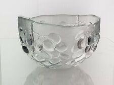 "Kosta Boda Swedish Grape Pattern Glass 7"" Bowl  by Ann Warff Sweden"