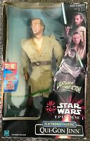 "Star Wars Episode 1 Electronic Talking Qui-Gon Jinn 12"" Action Figure See Pics"