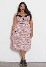 SWAK Curvy Kitten Peggy Sweetheart Dress Pin-Up Rockabilly VLV Plus Size 1X NWT